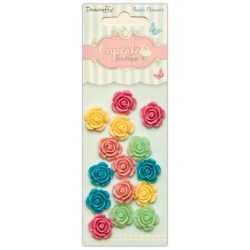 Набір квітів із пластику Resin Flowers, Cupcake Boutique, Dovecraft, DCRF001