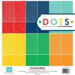 Набір паперу Dots Primary, 30х30 см, Echo Park, DTSP10016