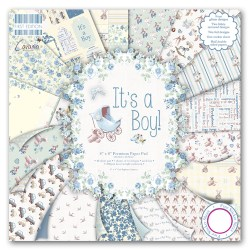 Набір паперу It's a Boy, 20×20 см, First Edition, FEPAD076