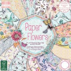 Набір паперу Paper Flowers, 20×20 см, First Edition, FEPAD094