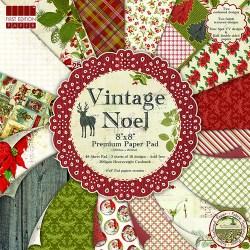 Набір паперу Vintage Noel, 20×20 см, First Edition, FEXPAD23