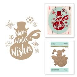 Пластина для фольгування Warm Winter Wishes, Spellbinders, GLP-045
