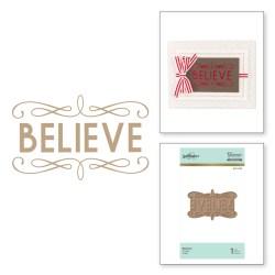 Пластина для фольгування Believe Holiday, Spellbinders, GLP-052