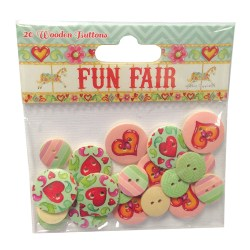 Ґудзики дерев'яні Fun Fair, Helz Cuppleditch, HCBN006