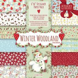 Набір паперу Winter Woodland, 15х15 см, Helz Cuppleditch, HCXDP13