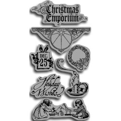 Штампи Christmas Emphorium 1 Cling Rubberstamp, Graphic 45/Hampton Art, IC0126