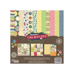 Набір паперу та прикрас Grandma's Lima Bean Soup, 30х30см, Jillibean Soup, JBW1253