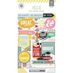 Наклейки чипбордові Hello Sunshine, Pink Paislee, PP01251