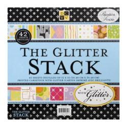 Набір паперу Glitter Stack, 30х30 см, DCWV, PS-005-00018