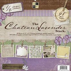 Набір паперу Chateau Lavander, 30х30 см, DCWV, PS-005-00201