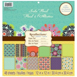 Набір паперу Indie Floral, 30х30 см, Recollections, PS-005-00291