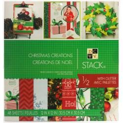 Набір паперу Christmas Creations, 30х30 см, DCWV, PS-005-00456