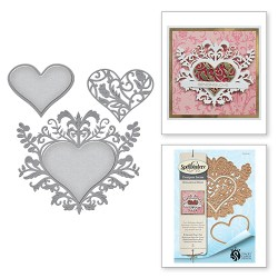Ножі Botanical Bliss Botanical Heart, Spellbinders, S4-641