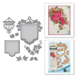 Ножі Botanical Bliss Beautiful Banner Basket, Spellbinders, S4-651