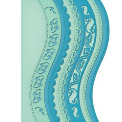 Ножі A2 Curved Borders One, Spellbinders, S5-180
