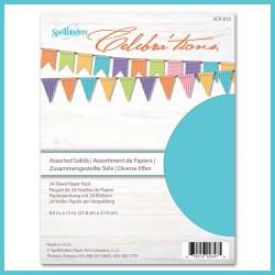 Набір картону Celebra'tions Assorted Solids, Spellbinders, 21х28 см, 24 ар, SCP-015
