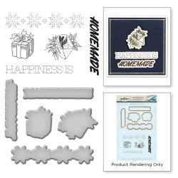 Штампи + Ножі Happiness, Spellbinders, SDS-076