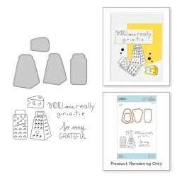 Штампи + Ножі Grateful Stamp and Die Set, Spellbinders, SDS-123