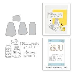 Штампи + Ножі Grateful Stamp and Die Set, Spellbinders, SDS-123