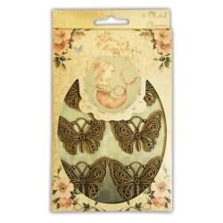 Металеві підвіски Mirabelle Butterfly Charms, Santoro, SNMC001