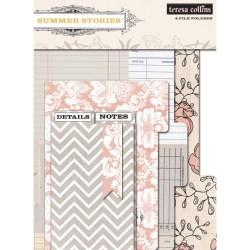 Папки Summer Stories File Folders, Teresa Collins, 30х30 см, SUM122