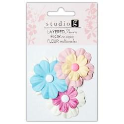 Квіти паперові, Pinks, Hampton Art, VAC0402-1