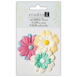 Квіти паперові, Greens, Hampton Art, VAC0402-4
