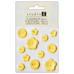 Ґудзики пластикові, жовті, Hampton Art, VAC0403-4