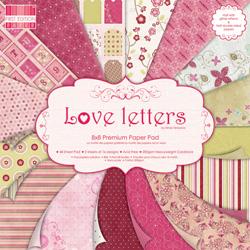 Набір паперу Love Letters, 20х20 см, First Edition, FEPAD008