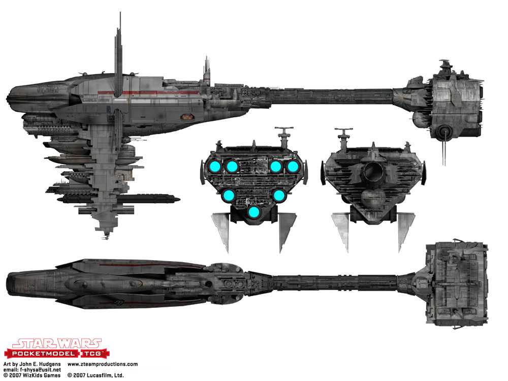 Star Wars Nebulon B Frigate Blueprint
