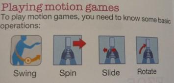 instruções para games com movimento