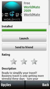 Detalhe de aplicativo (WorldMate)