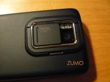 Detalhe da câmera de 5 megapixels (4:3) ou 3,2 megapixels (Widescreen)