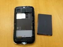 HTC Smart com a tampa traseira aberta