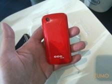 Touchscreen branco - o verso é vermelho