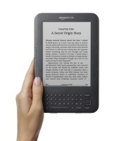 Kindle with Hand, head on - graphite