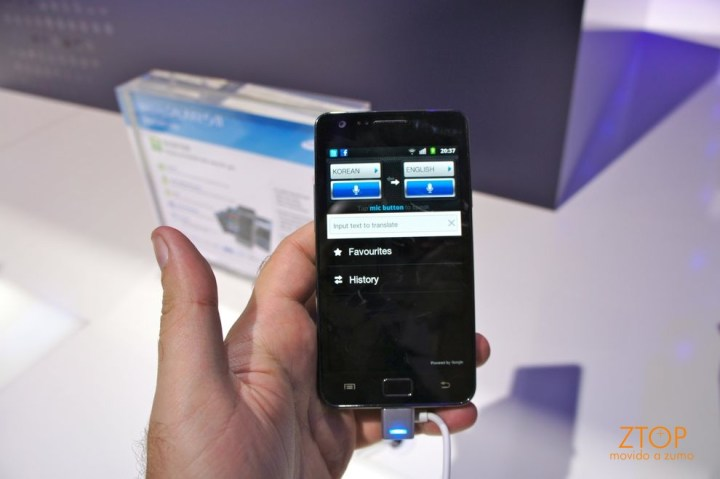 Galaxy S II e o Google Translate (!)