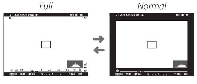 Fuji_xt1_EVF_modos