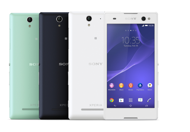 Xperia C3 Group Colours Front