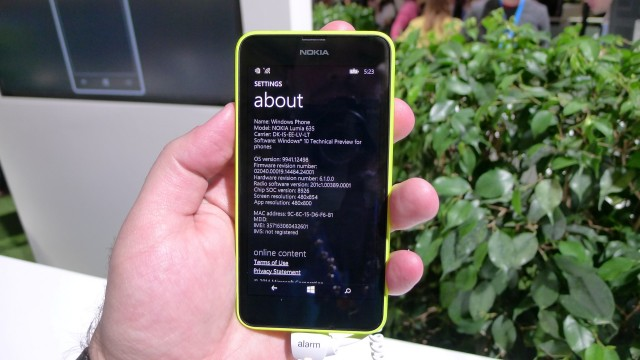 Windows Phone 10 preview