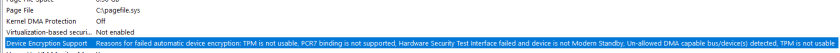 Device Encryption Support