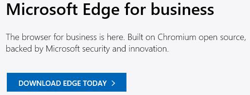 Updating Microsoft Edge on Windows Server