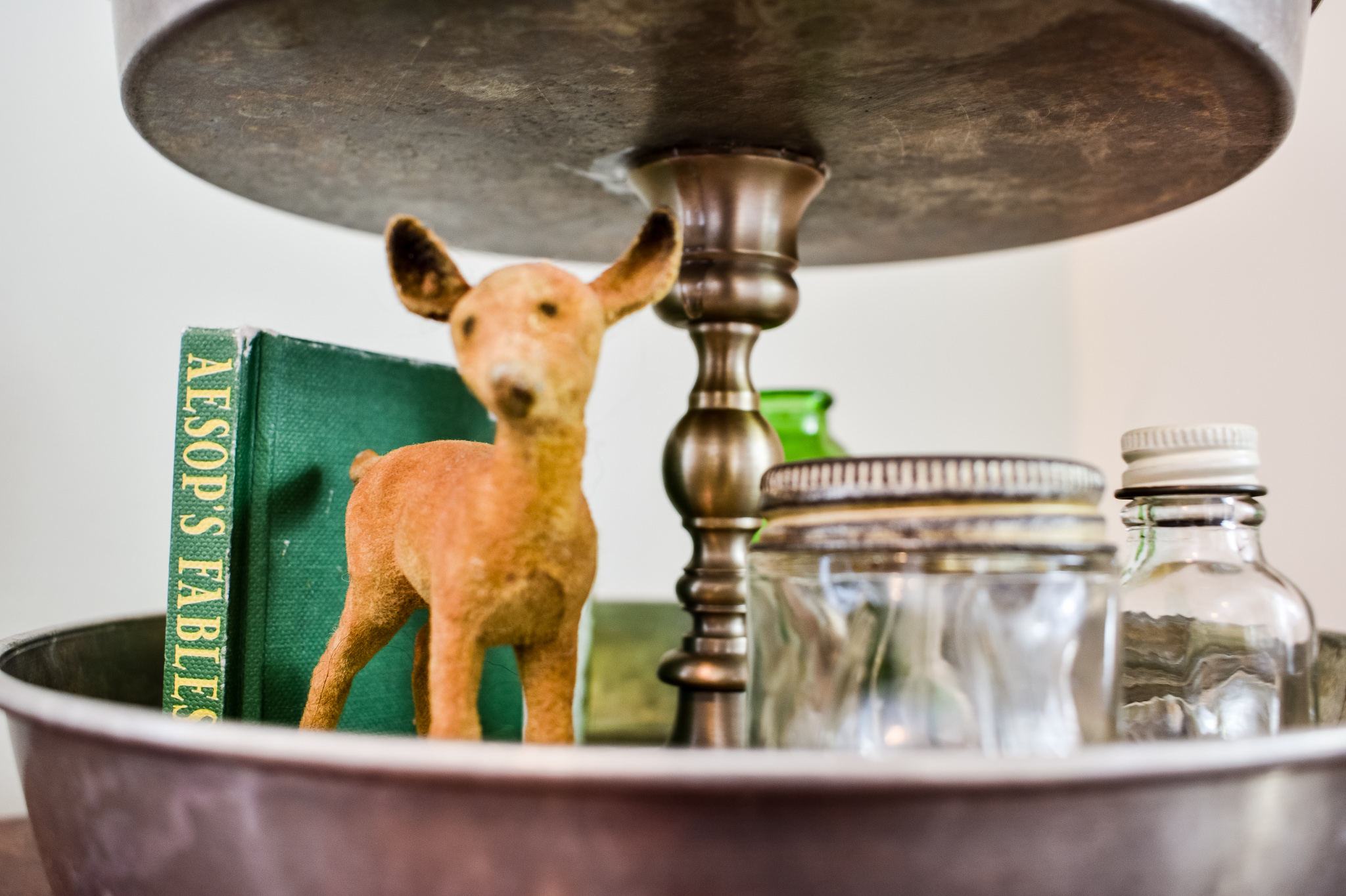 deer styled in an easy diy tiered tray