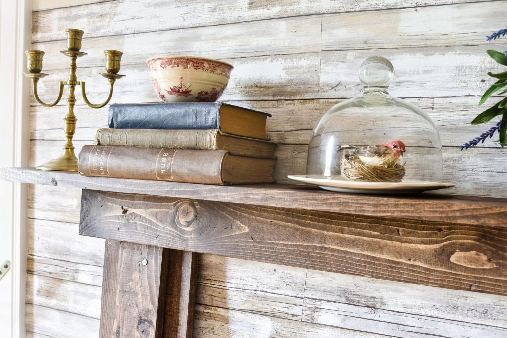 DIY Faux Fireplace and Mantel