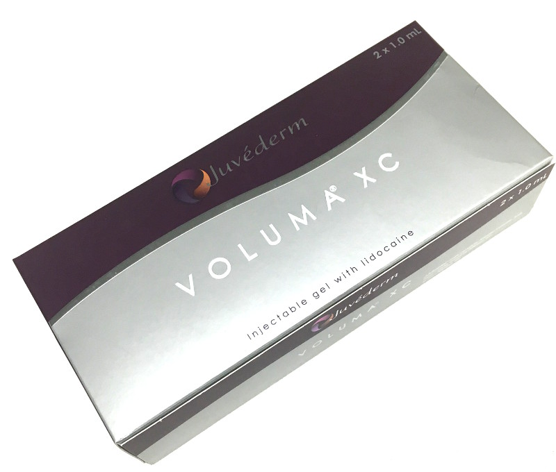 Voluma, a Hyaluronic Acid filler made by Allergan. Dr. Zuckerman uses this product for cheek enhancement in his practice in New York City.