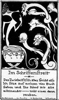 """""""Zwiebelfisch"""", Zeitschrift für """"Buchkunst"""""""