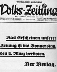 Die Rolle der gleichgeschalteten Presse in der NS Diktatur. Eine Anzeige im