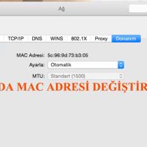 MacOSX de WiFi MAC Adresini Değiştirmek