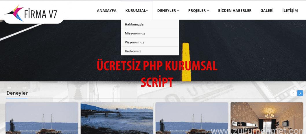 Ücretsiz Php Kurumsal Script