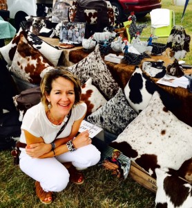 Zulucow Nguni cowhide rugs, cowhide bags, cushions, belts, women's accessories, home decor, home interiors Essex Dog Day 2016